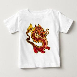 T-shirt chinois rouge de nourrisson de dragon
