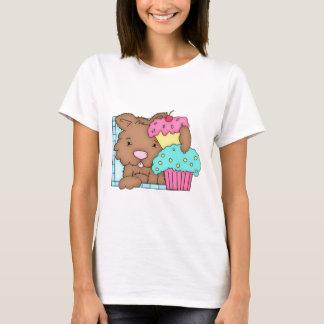 T-shirt Chiot avec la conception 5 d'anniversaire de petit
