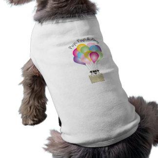 T-shirt Chiot de chiot et loin