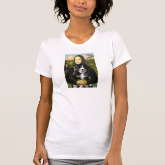 T-shirt Chiot de Mona Lisa - de chien de Bernese Mt