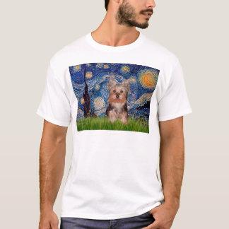 T-shirt Chiot de Yorkshire Terrier - nuit étoilée