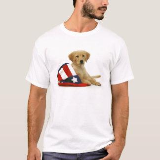 T-shirt Chiot et casquette d'or d'Oncle Sam