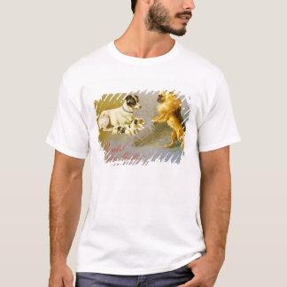 T-shirt Chiots dans la paille, carte postale victorienne