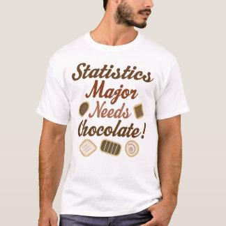 T-shirt Chocolat principal de statistiques