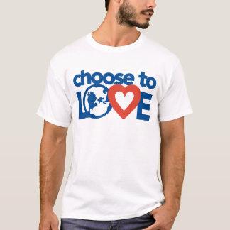 T-shirt Choisissez d'aimer T des hommes