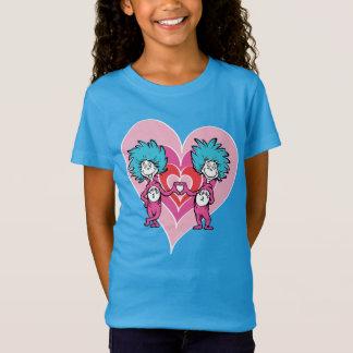 T-Shirt Chose 2 de la chose 1 de Dr. Seuss Valentine  
