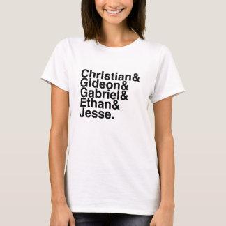 T-shirt Chrétien d'ami de livre, Gideon, Gabriel, Ethan,