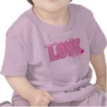 T-shirt chrétien de bébé - peu d'insecte d'amour