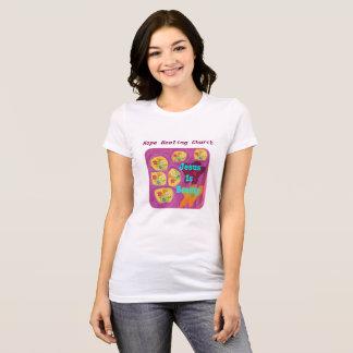 T-shirt chrétien de fleur de Jésus d'église