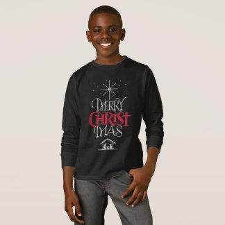 T-shirt Chrétien laid de chandail de Joyeux Noël religieux