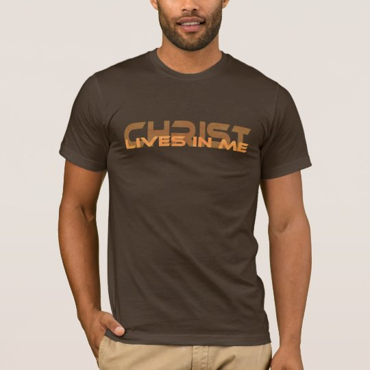 T-shirt Christ lives in me 3 Orange TRANS PNG