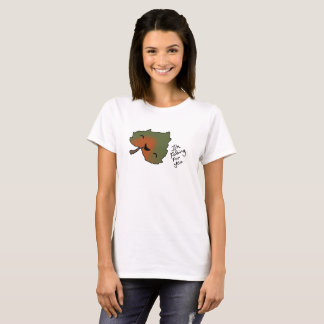 T-shirt Chute pour vous pièce en t 2 de feuille