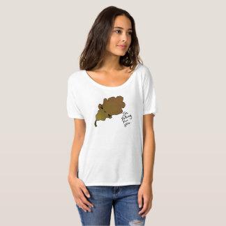 T-shirt Chute pour vous pièce en t 4 de feuille