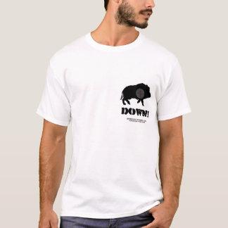 T-shirt cible de l'image R de verrat, vers le bas ! , Cl