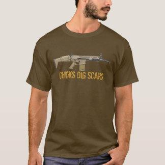 T-shirt Cicatrices de la fouille de poussins (F-N)