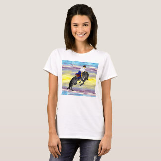 T-shirt Ciel occidental de cowboy et de cheval