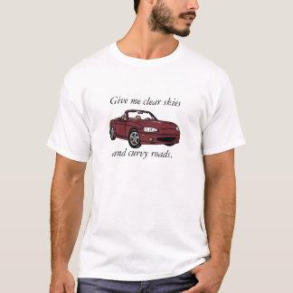 T-shirt Cieux clairs et grand rouge d'en cuivre sinueux de