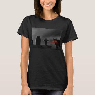 T-shirt Cimetière avec le chat