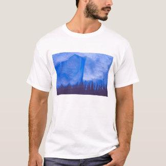 T-shirt Cimetière d'iceberg de Pleneau, Antarctique : Bleu