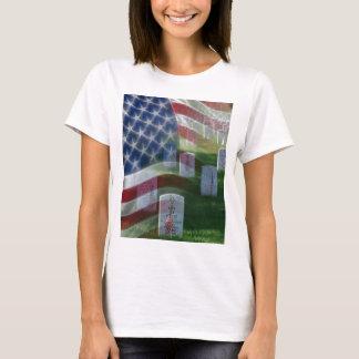 T-shirt Cimetière national d'Arlington, drapeau américain