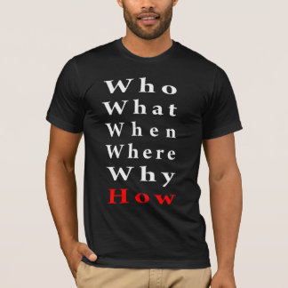 T-shirt Cinq W et comment