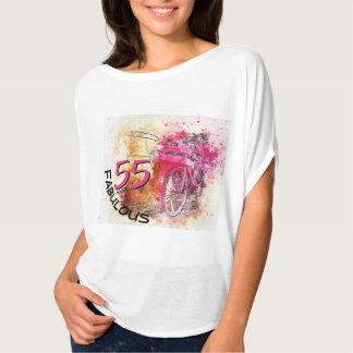 T-shirt cinquante-cinquième Éclaboussure magenta de