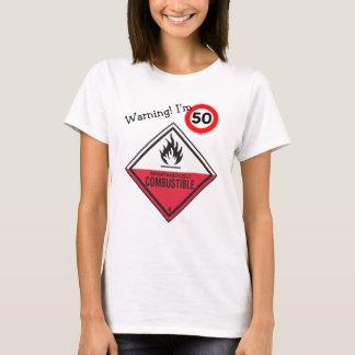 T-shirt Cinquantième anniversaire drôle ses flux chauds de