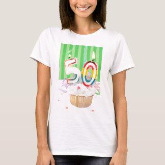 T-shirt cinquantième salutation de fête d'anniversaire