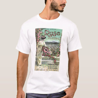 T-shirt Cinquième publicité rose de festival d'annuaire