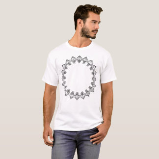 T-shirt circulaire d'illustration de motif