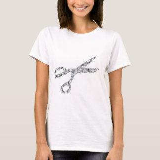 T-shirt Ciseaux avec des coupes de cheveux