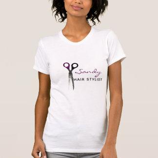 T-shirt Ciseaux pourpres et noirs à la mode