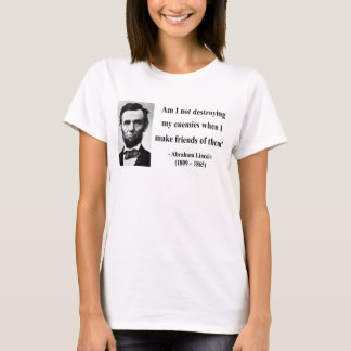 T-shirt Citation 12b d'Abraham Lincoln