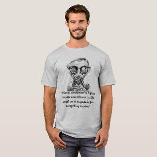 T-shirt Citation 1 de Jean Paul Satre