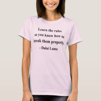 T-shirt citation 2a de Dalaï lama