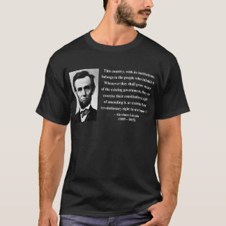 T-shirt Citation 9b d'Abraham Lincoln