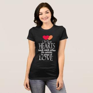 T-shirt Citation célèbre d'amour de symbole de coeur -