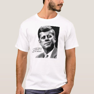 T-shirt Citation célèbre de JFK d'affiche d'espoir de JFK