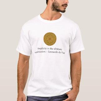 T-shirt Citation d'art de Leonardo da Vinci