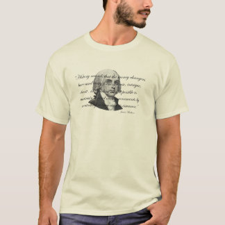 T-shirt Citation de banque de James Madison