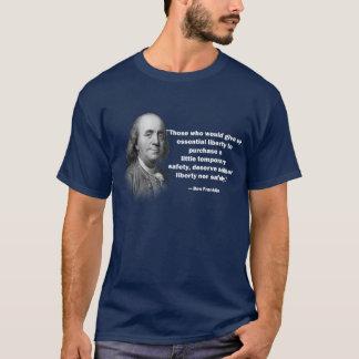 T-shirt Citation de contrôle des armes de Ben Franklin -