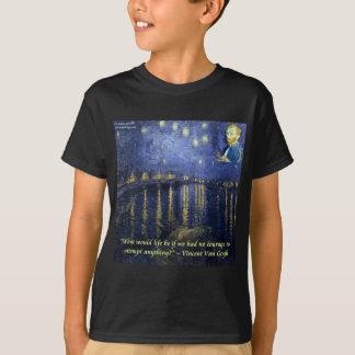T-shirt Citation de courage de Van Gogh