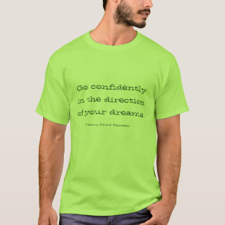 T-shirt Citation de Henry David Thoreau
