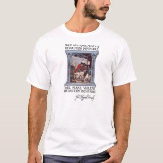 T-shirt Citation de JFK sur la révolution paisible ou