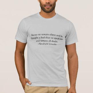 T-shirt Citation de Lincoln