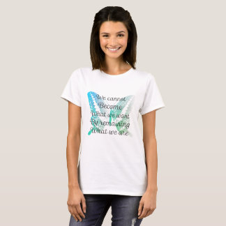 T-shirt Citation de motivation avec le papillon sur le