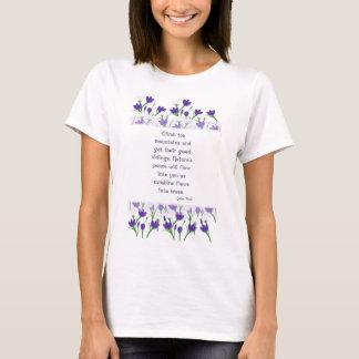 T-shirt Citation de nature de John Muir avec des fleurs de