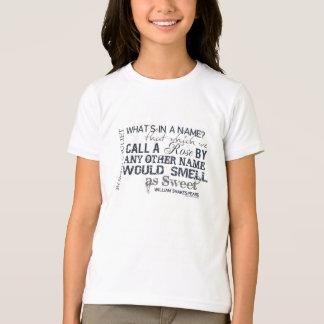 T-shirt Citation de nom de Romeo et de Juliet