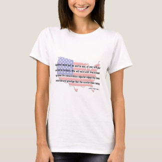 T-shirt Citation de paix de JFK