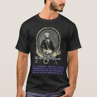 T-shirt Citation du marquis De Lafayette sur